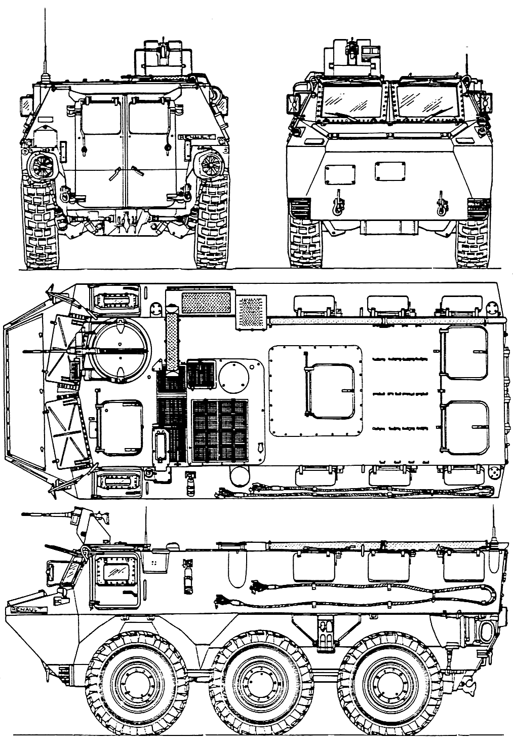 v u00e9hicule de l u0026 39 avant blind u00e9 blueprint