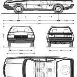 Renault Fuego blueprint