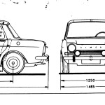 Simca 1000 blueprint