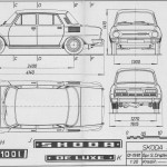 Škoda 100 blueprint