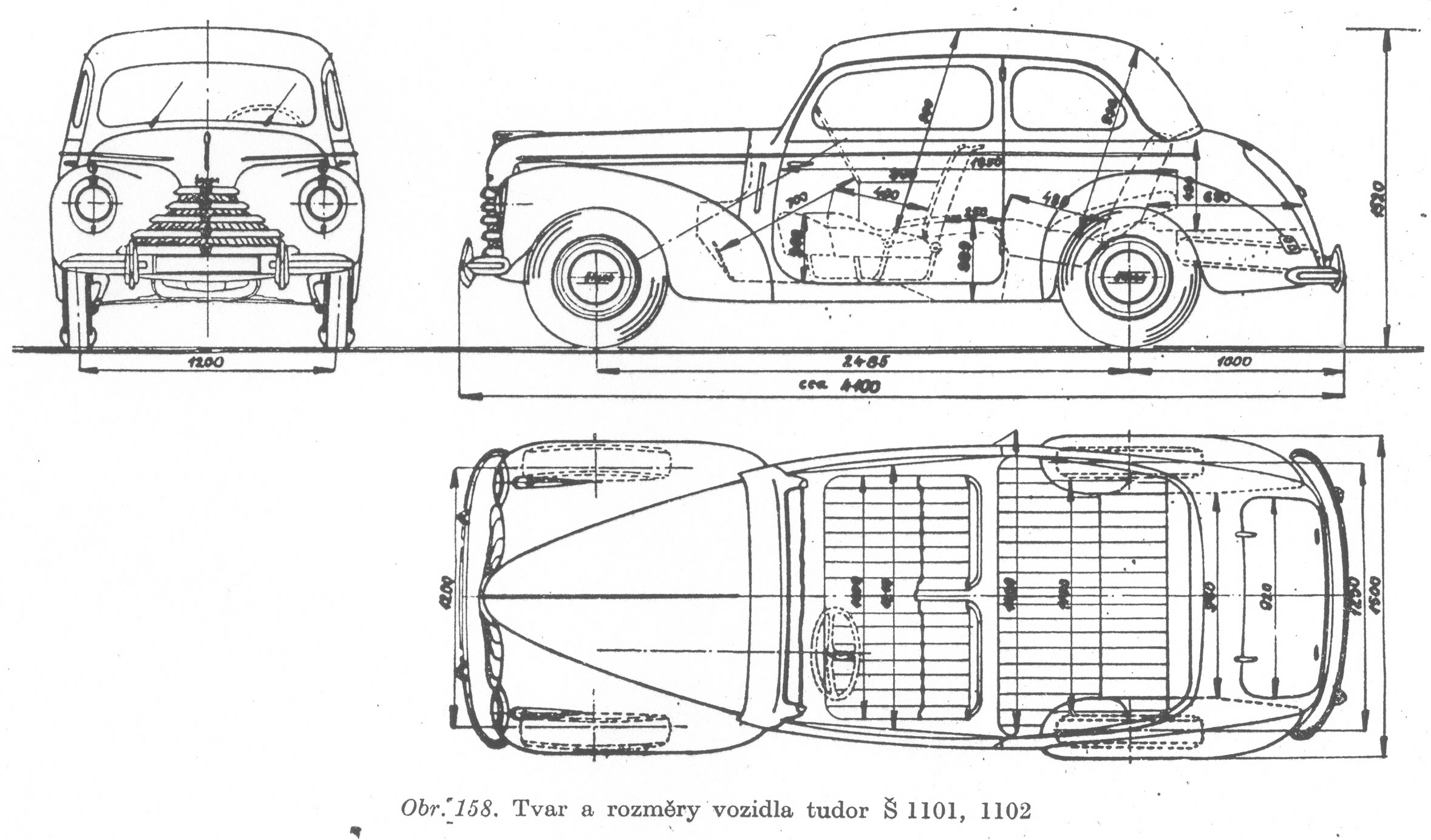 Škoda 1101 blueprint