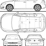 Volkswagen Golf blueprint