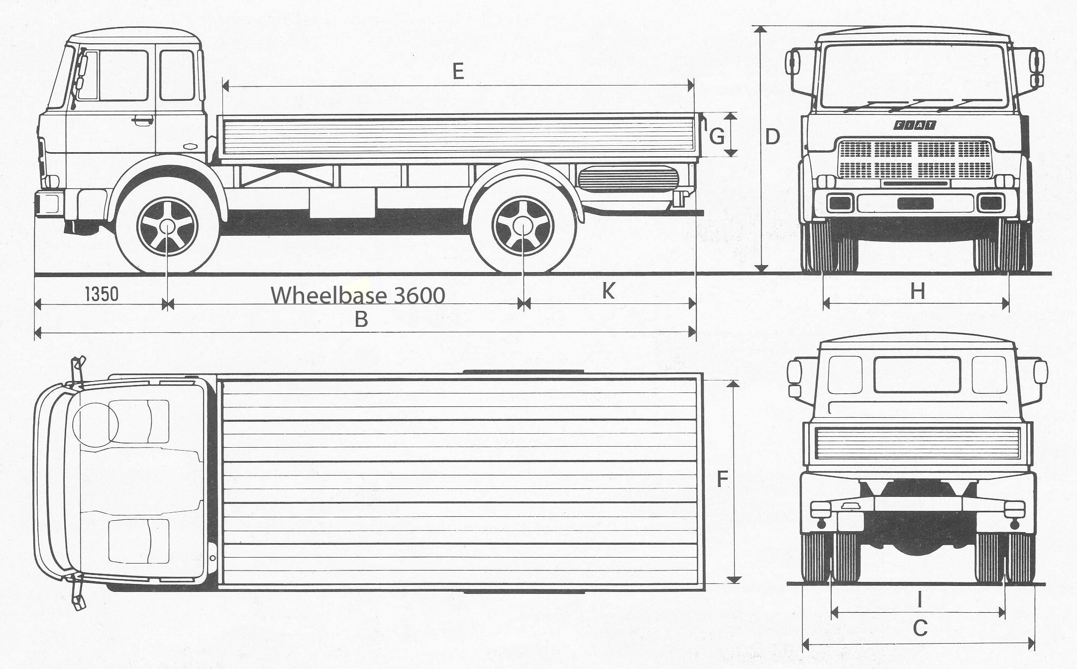Fiat 130 NC blueprint