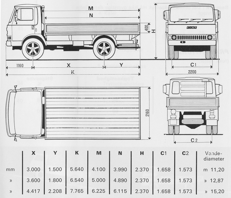 Fiat 80 Nc blueprint