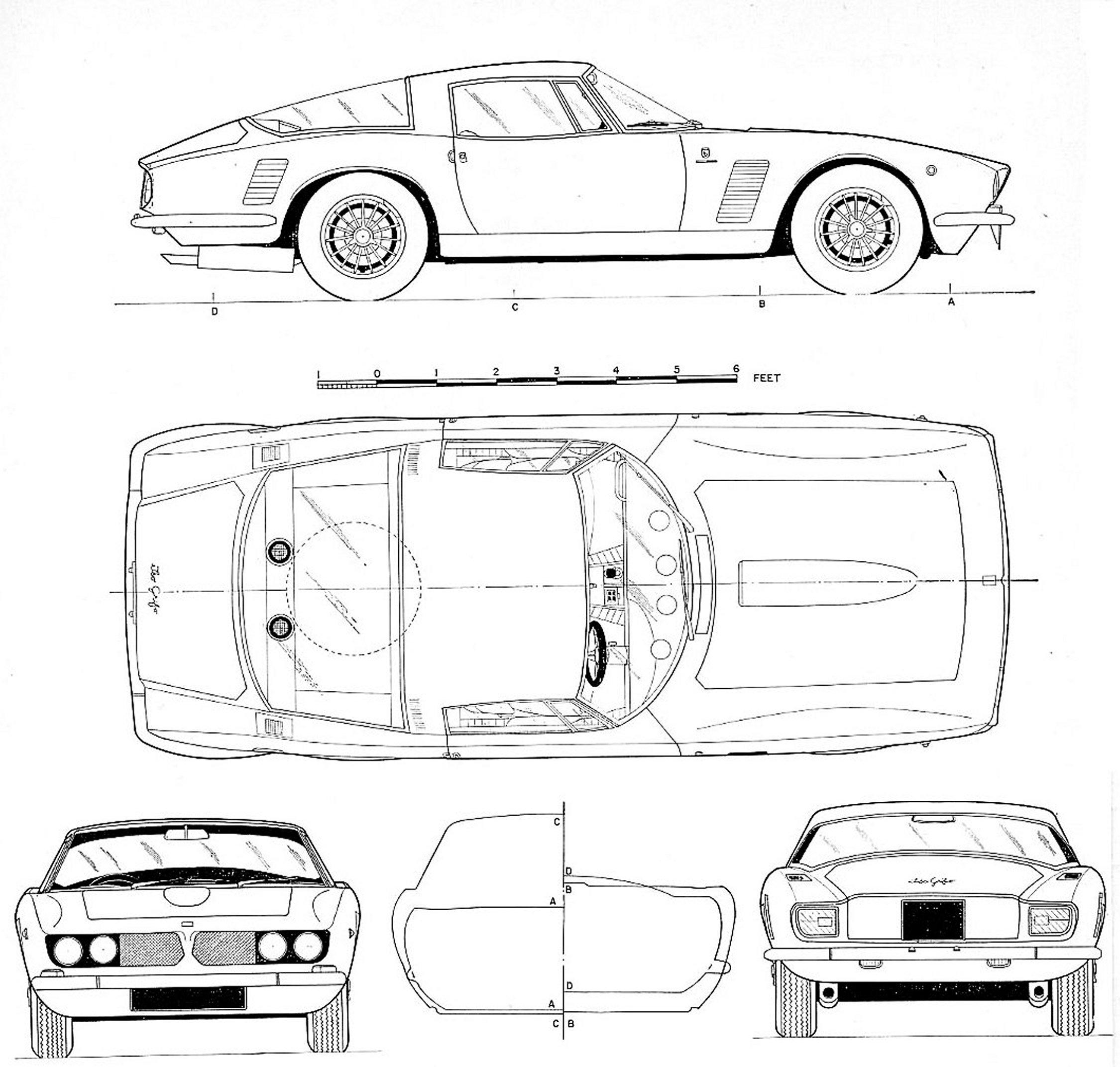 Iso Grifo blueprint