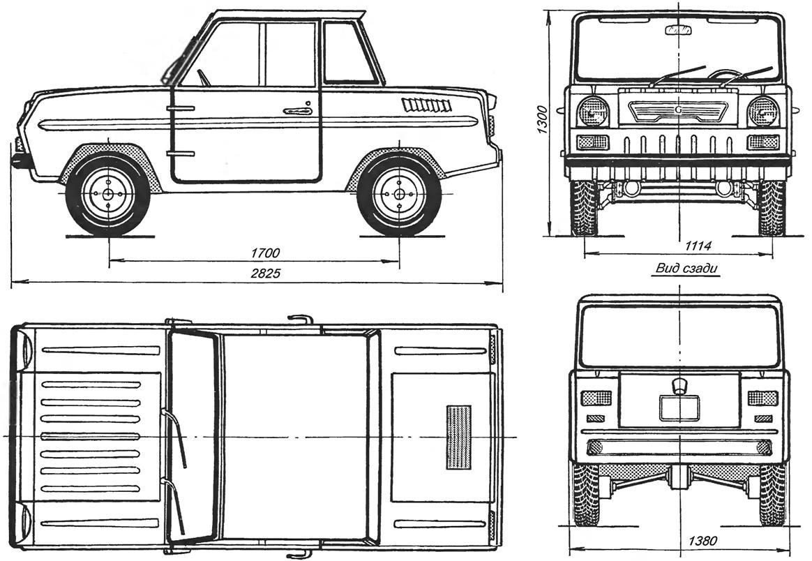 S-3D Cycle-car blueprint