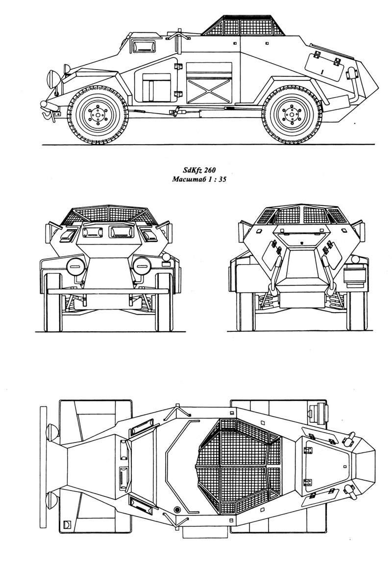 Leichter Panzerspähwagen blueprint