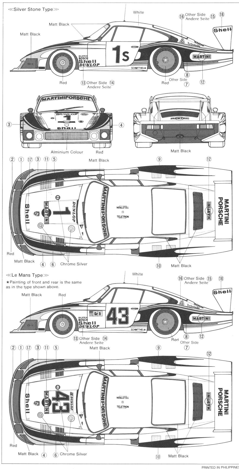 Porsche 935 blueprint