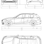 BMW 1 Series F20 blueprint