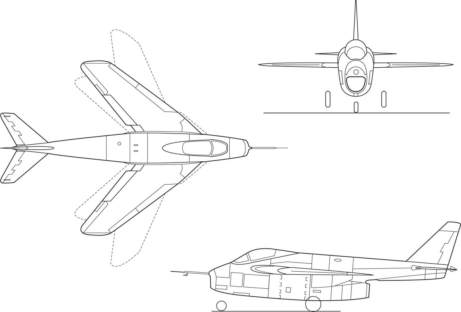 Bell X-5 blueprint