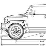 Toyota FJ Cruiser blueprint