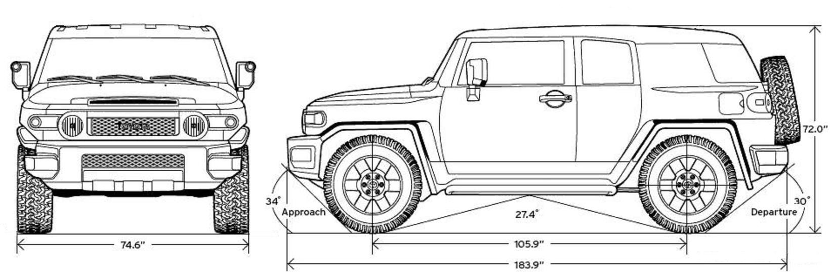 Toyota FJ Cruiser Blueprint - Download free blueprint for ...