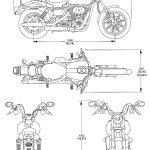 Motorcycle Blueprints - Download free blueprint for 3D modeling