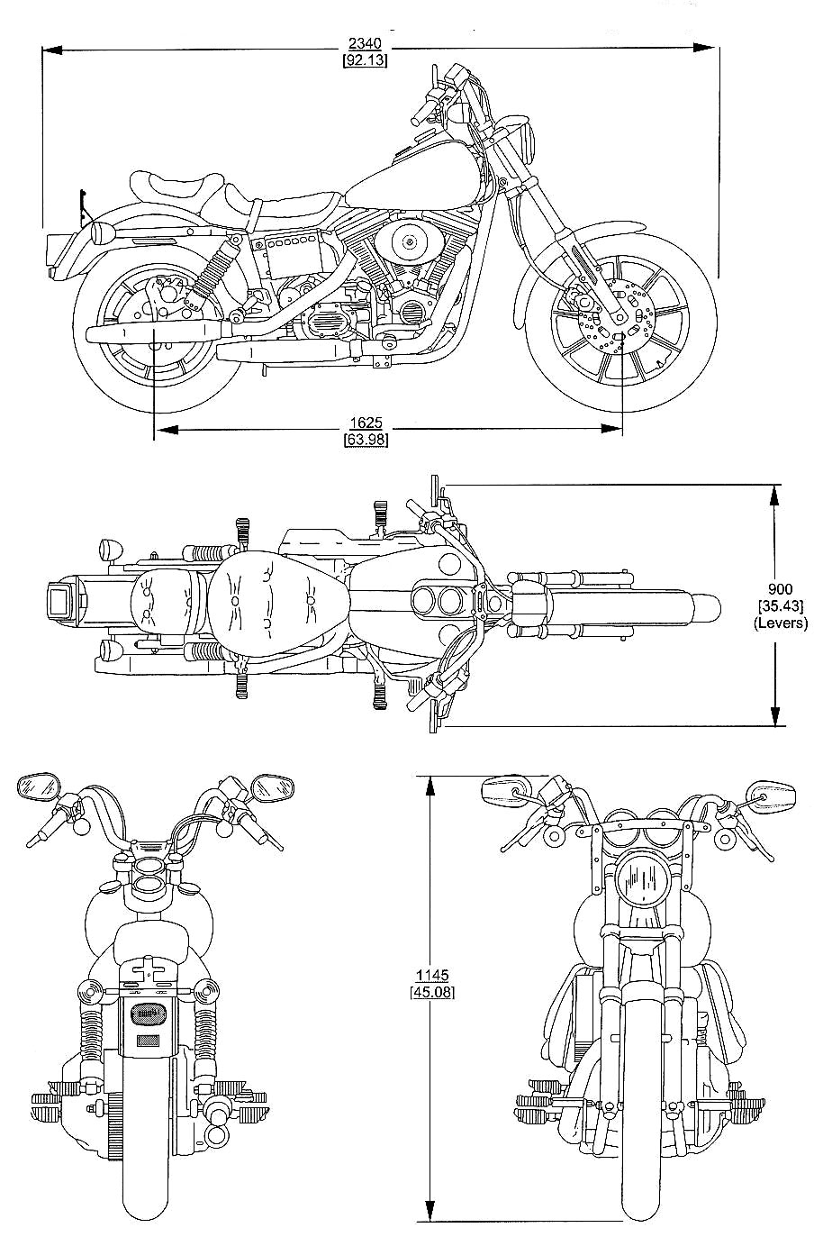 Harley-Davidson FS2 blueprint