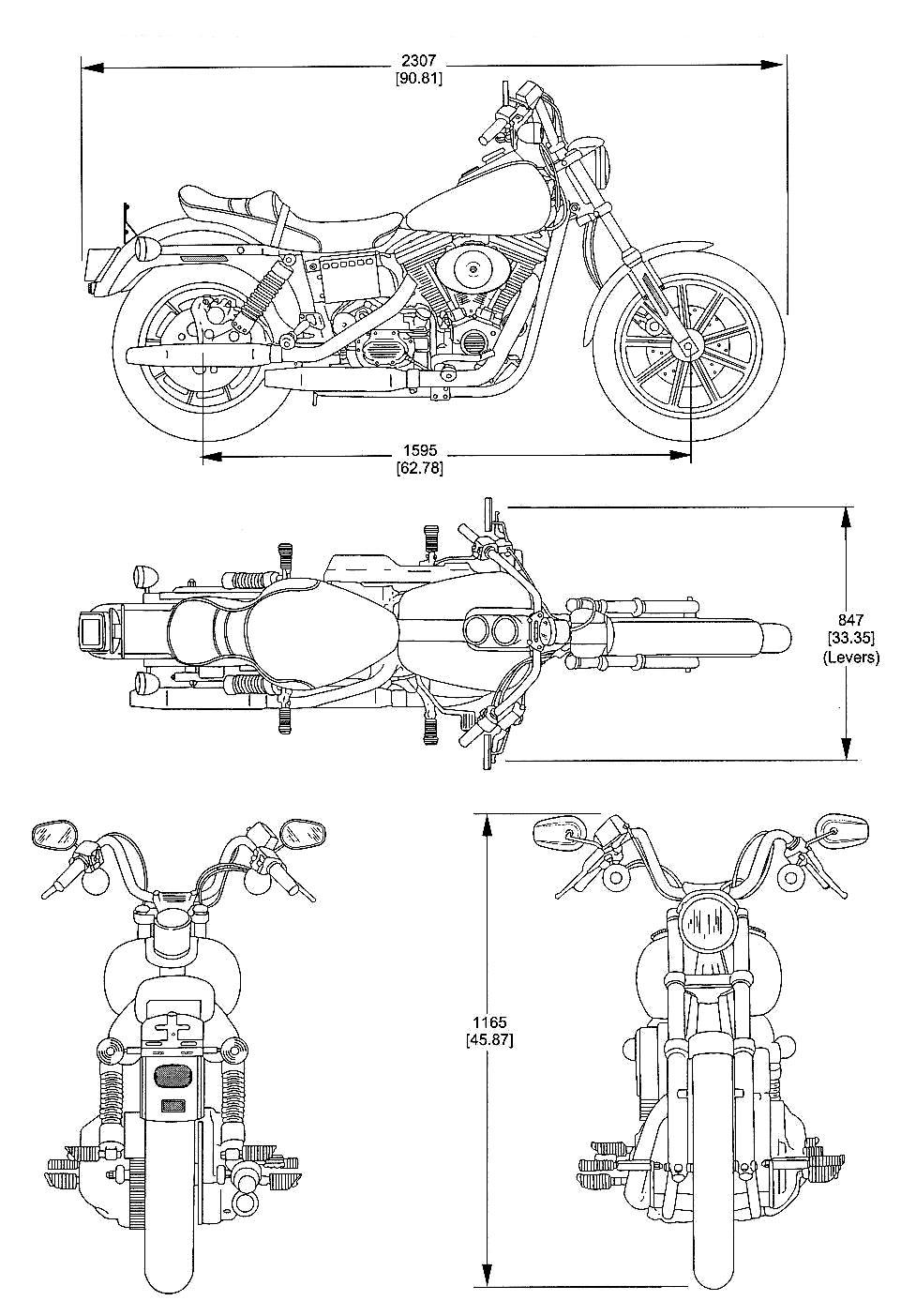 harley-davidson fs2 blueprint - download free blueprint for 3d