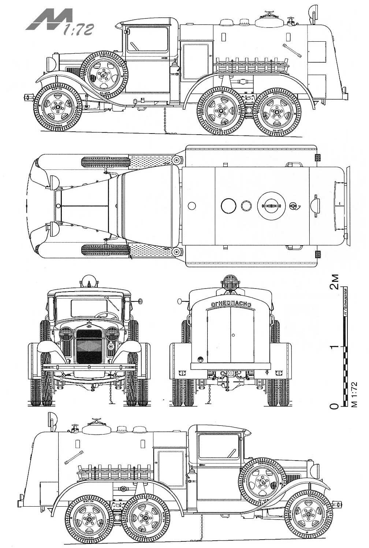 GAZ AAA blueprint