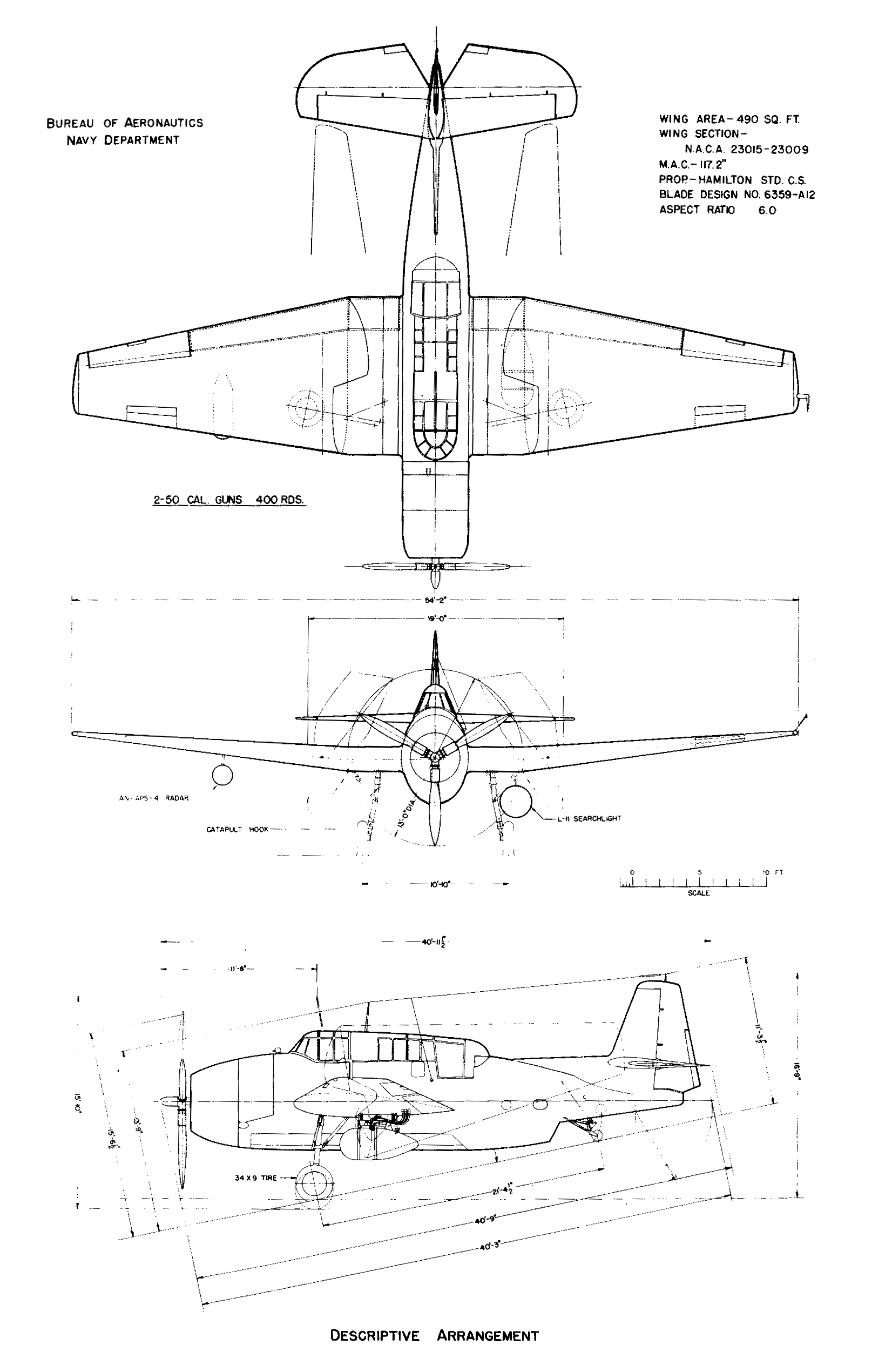 TBF Avenger blueprint
