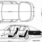 Jensen Interceptor blueprint