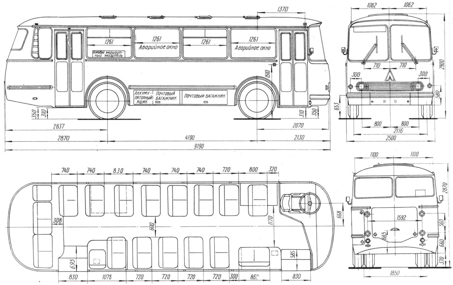 LAZ 695N blueprint