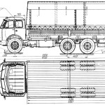 MAZ 516 blueprint