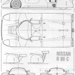 Nissan R89C blueprint