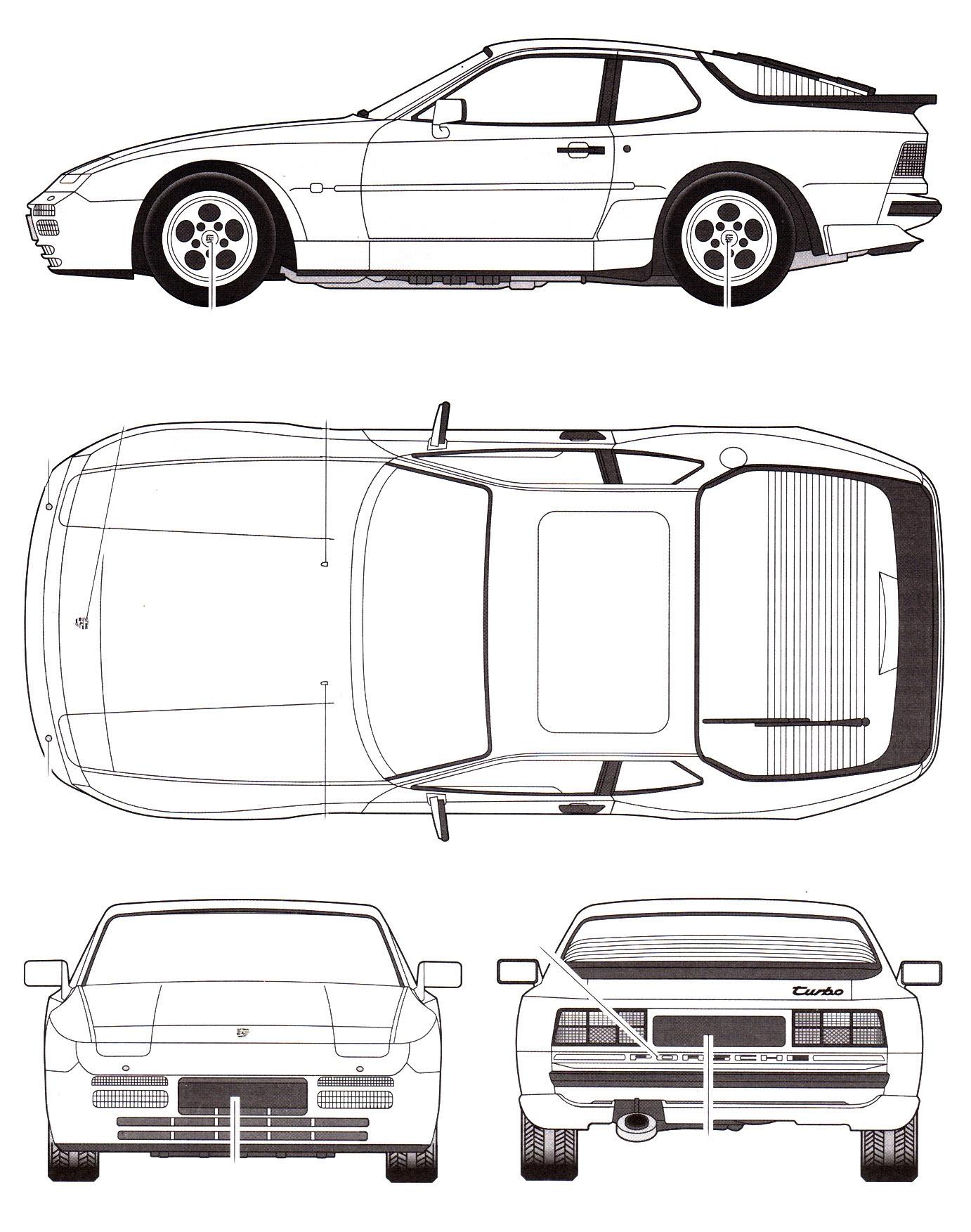 Porsche 944 blueprint