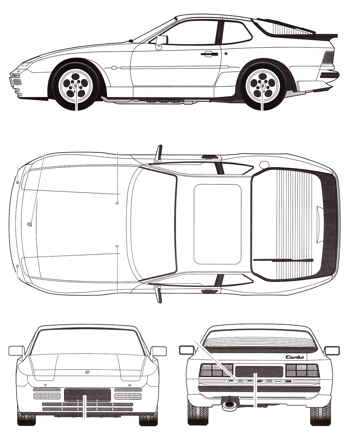 porsche 944 turbo blueprint