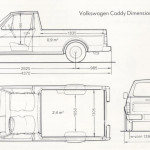 Volkswagen Caddy blueprint