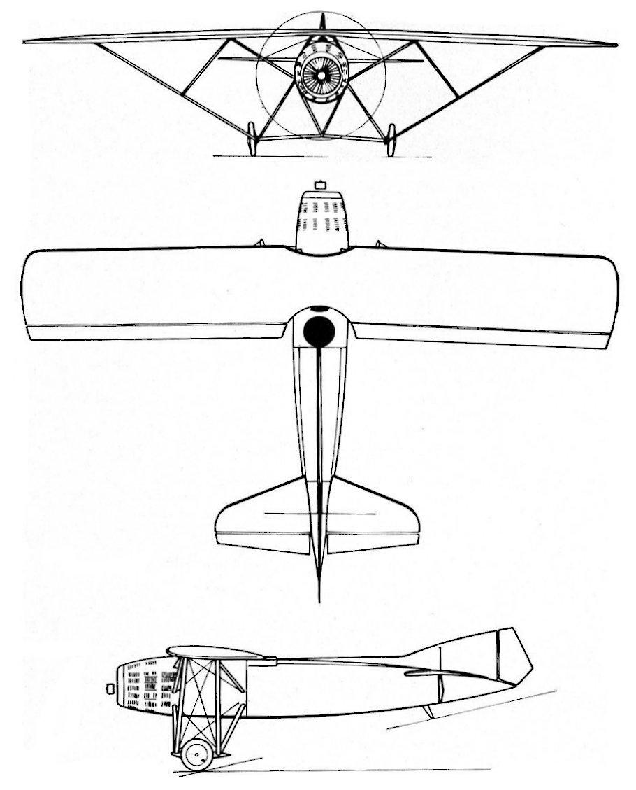 Béchereau SB-6 blueprint