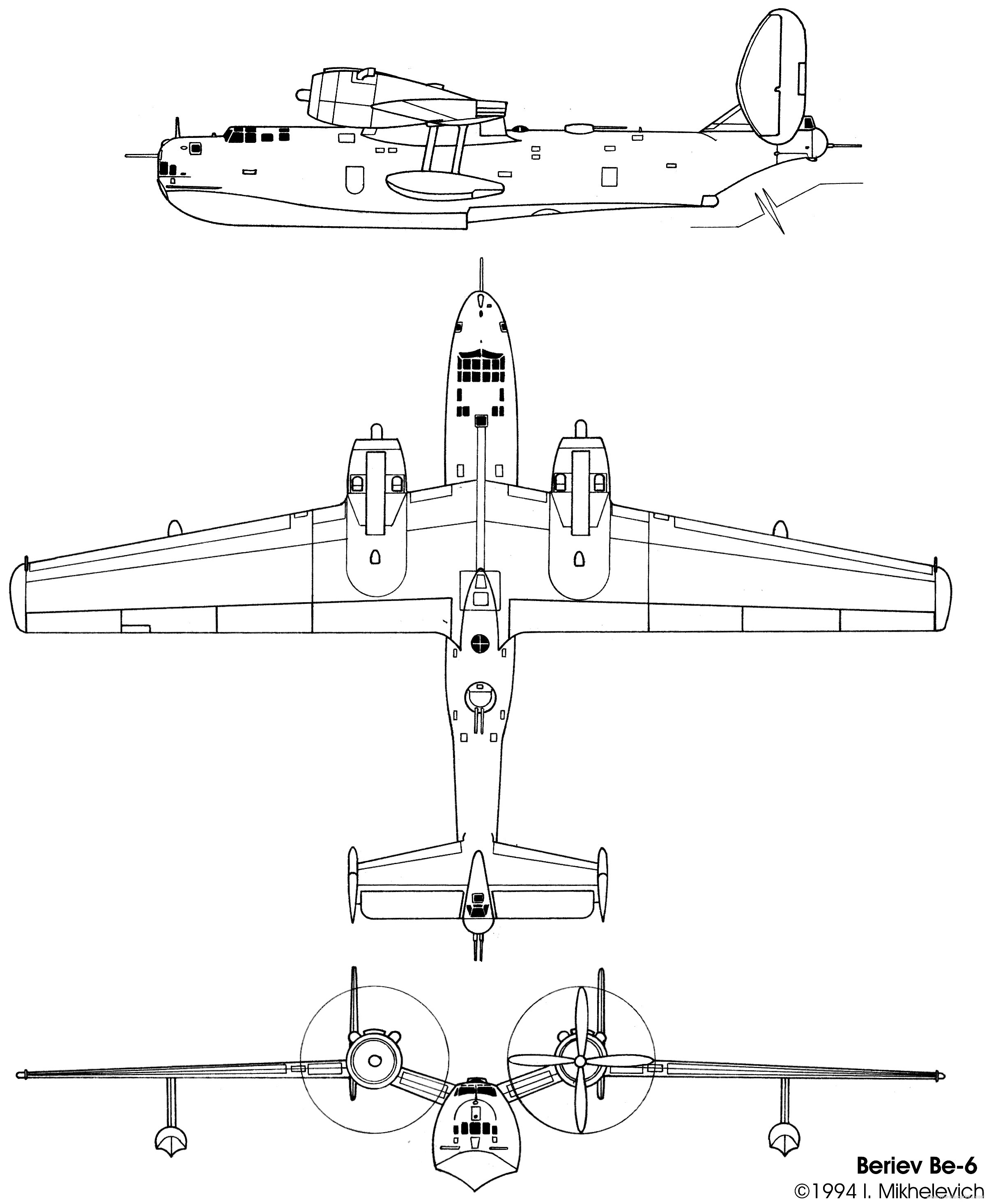 Beriev Be-6 blueprint