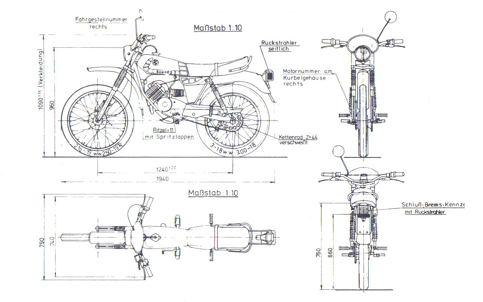 Puch Minicross TT blueprint