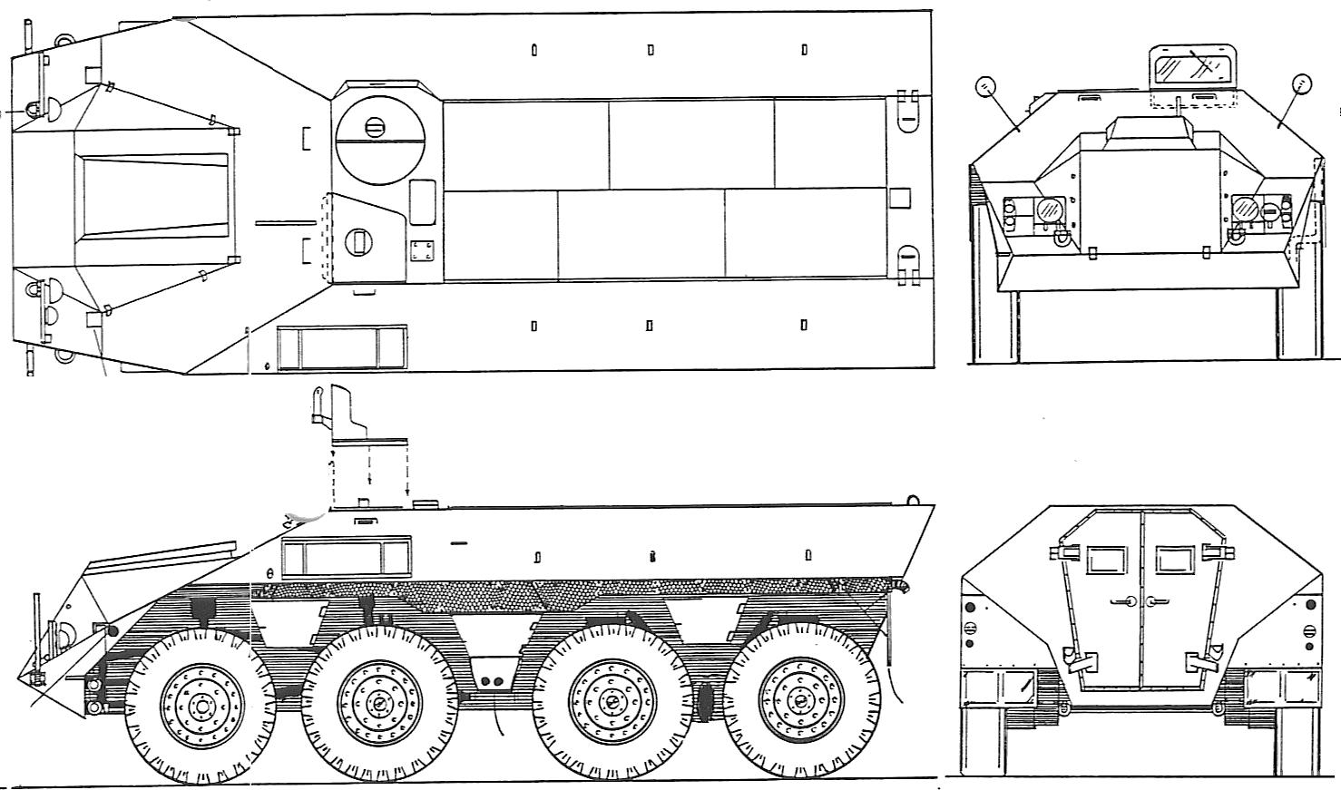 DAF YP-408 blueprint