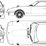 Datsun 240Z blueprint