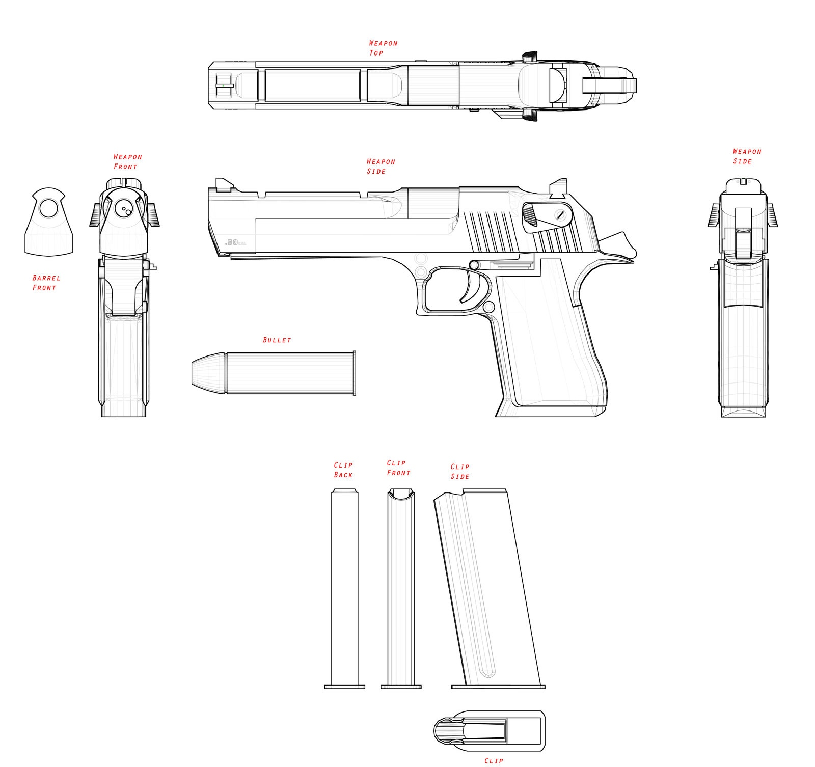 Imi desert eagle blueprint download free blueprint for for Free 3d blueprints