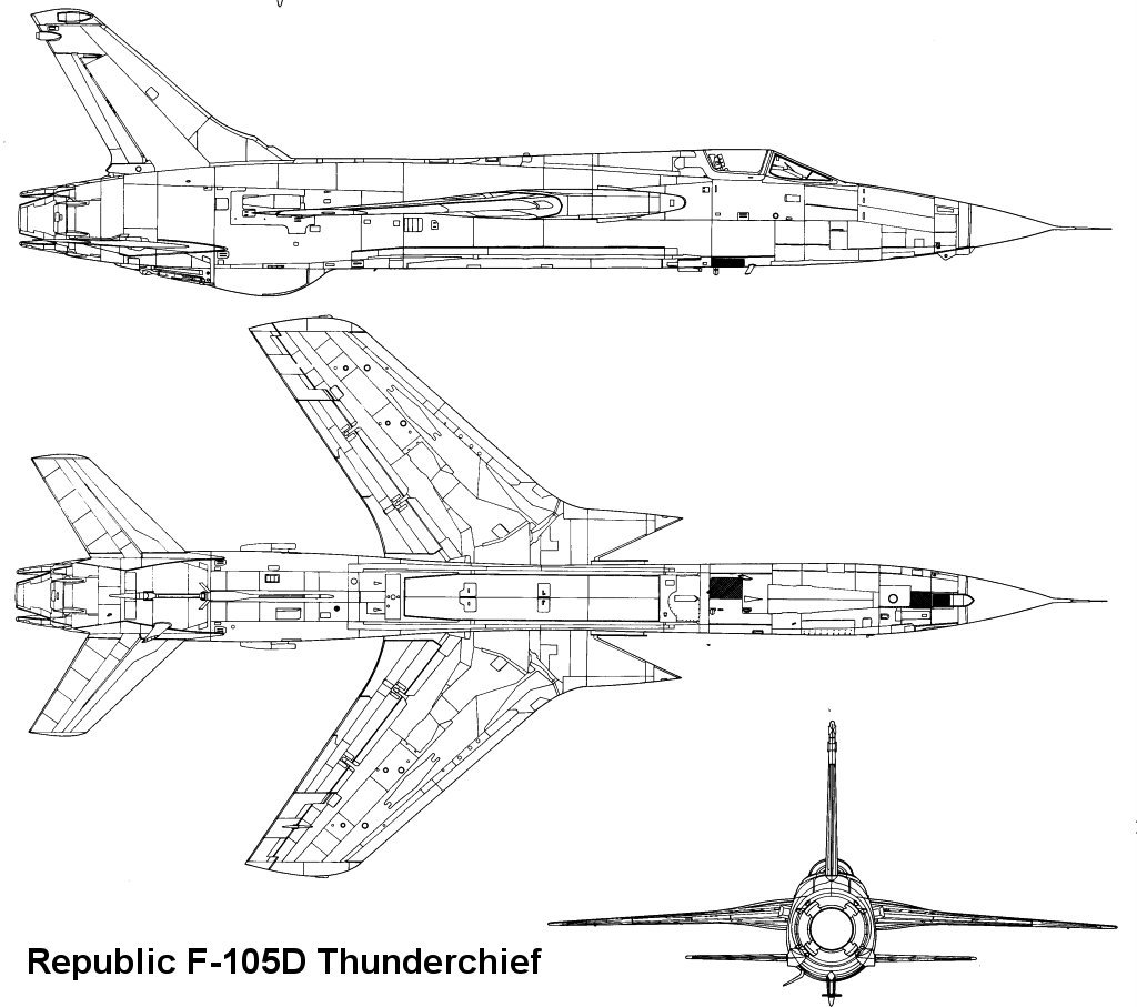 F-105 Thunderchief blueprint