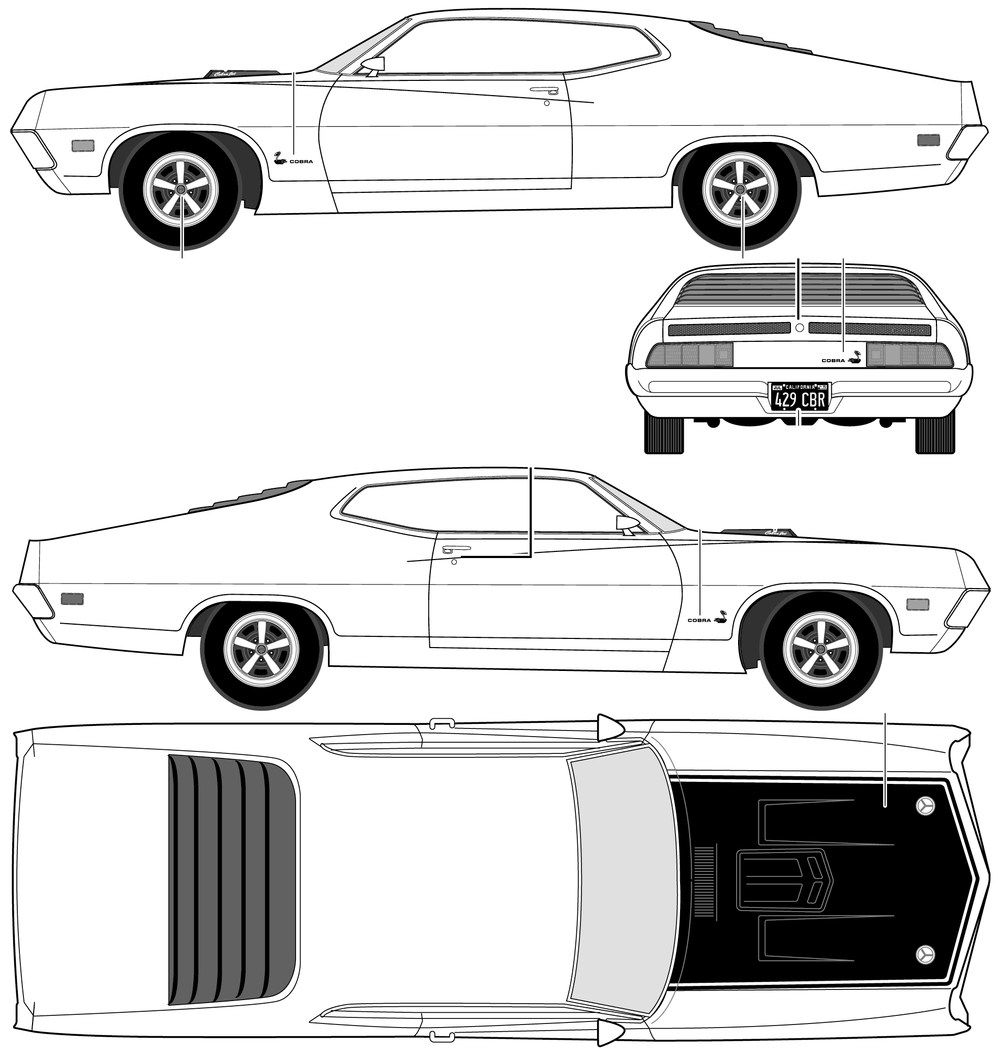 Ford Torino Cobra blueprint