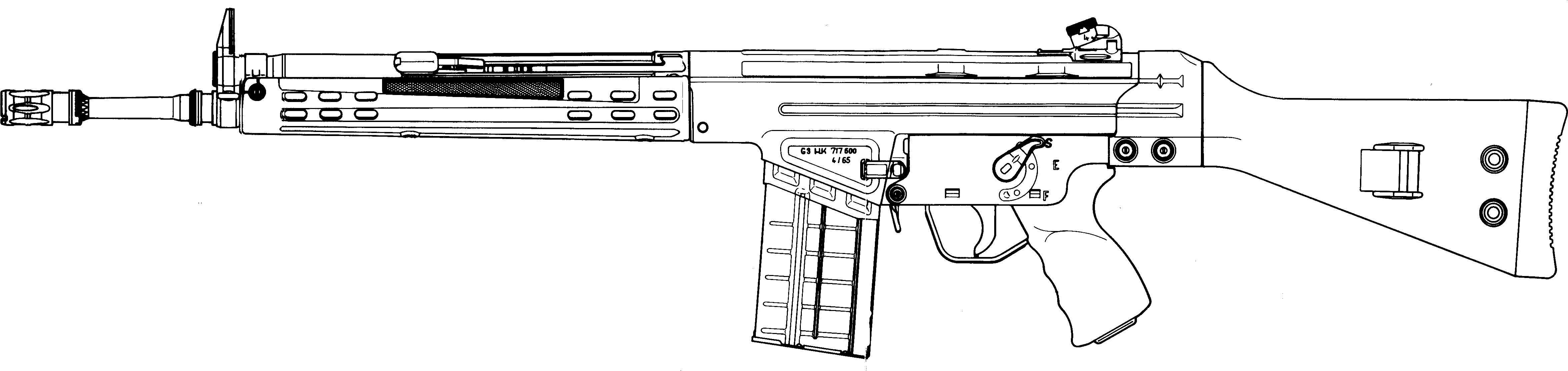 Heckler & Koch G3 blueprint