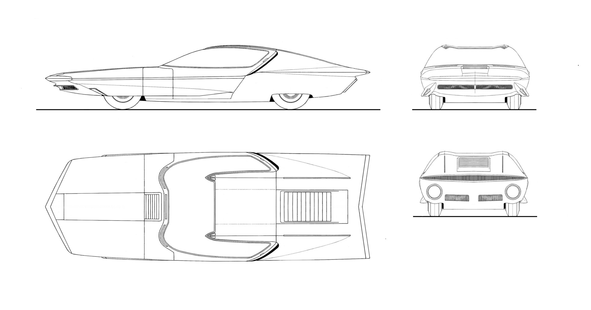General Motors Firebird blueprint