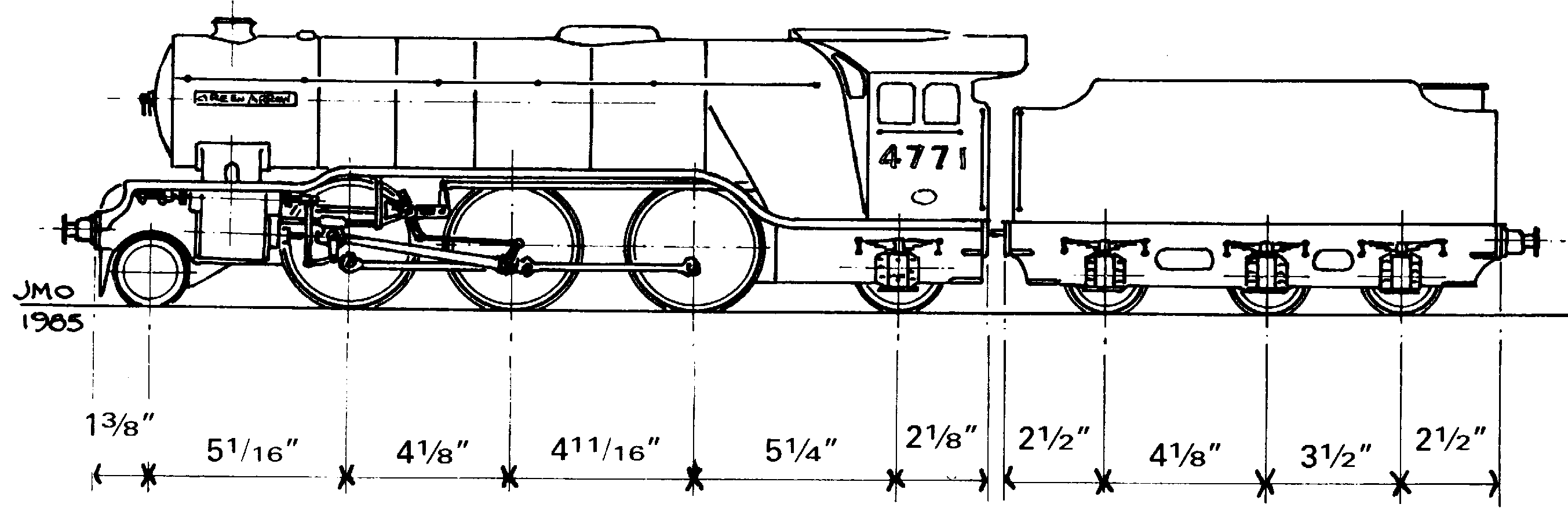 Green Arrow steam train blueprint