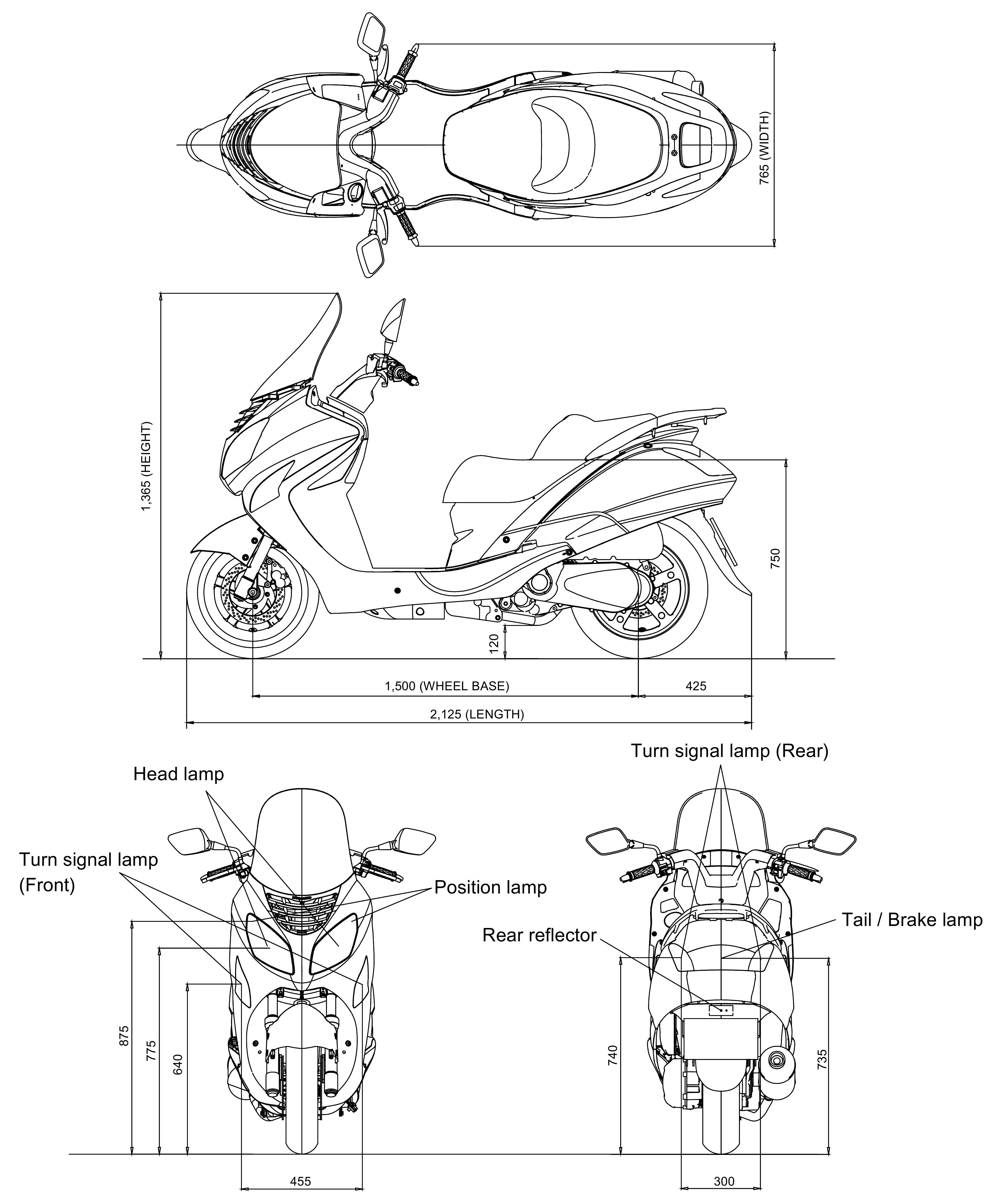 Hyosung MS3 250 blueprint