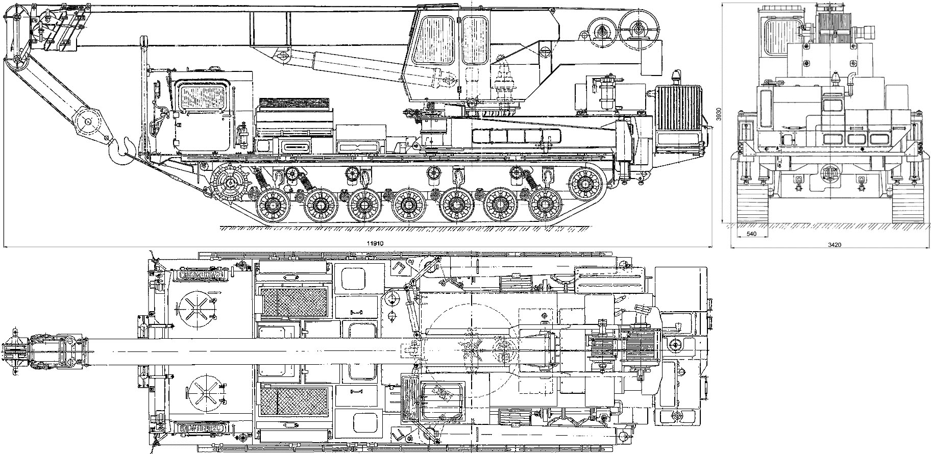 KGS-25 Special Tracked Crane blueprint