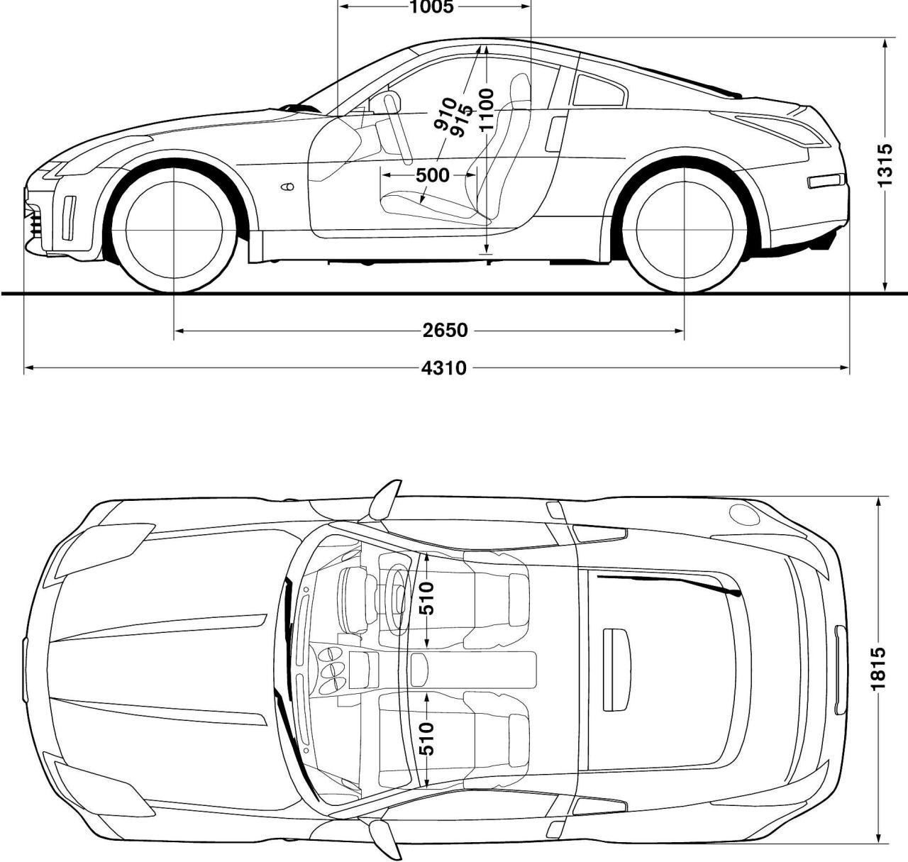Nissan 350z Blueprint Download Free Blueprint For 3d