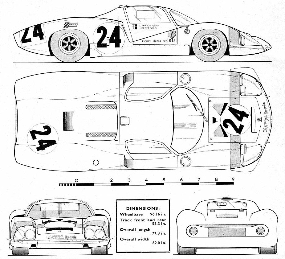 Matra 630 blueprint