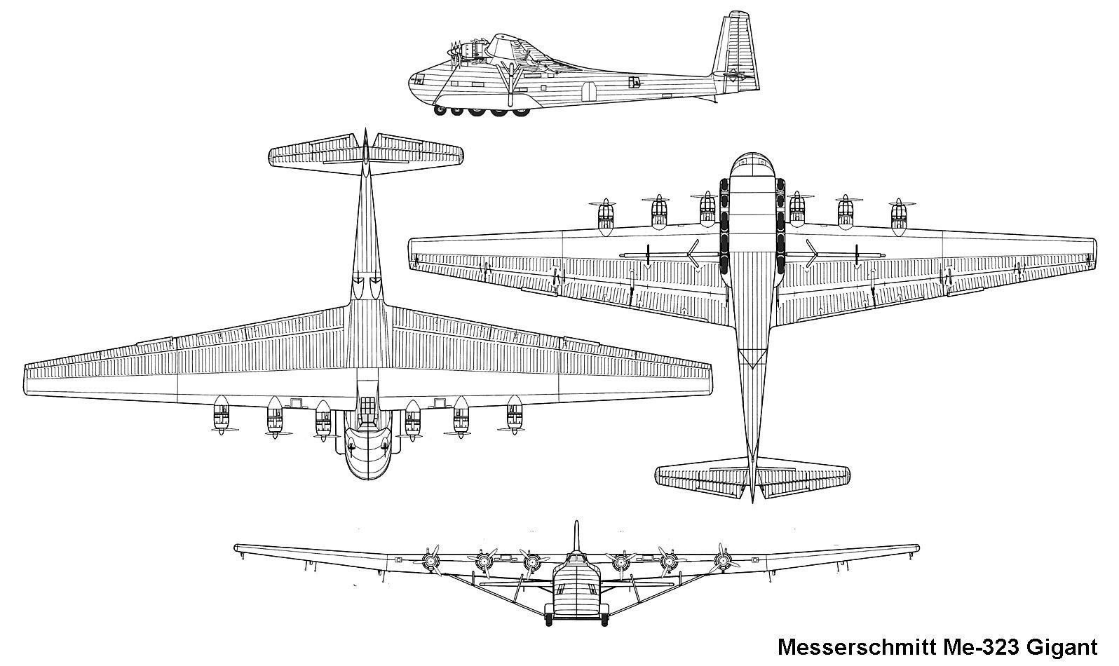 Me 323 Gigant blueprint