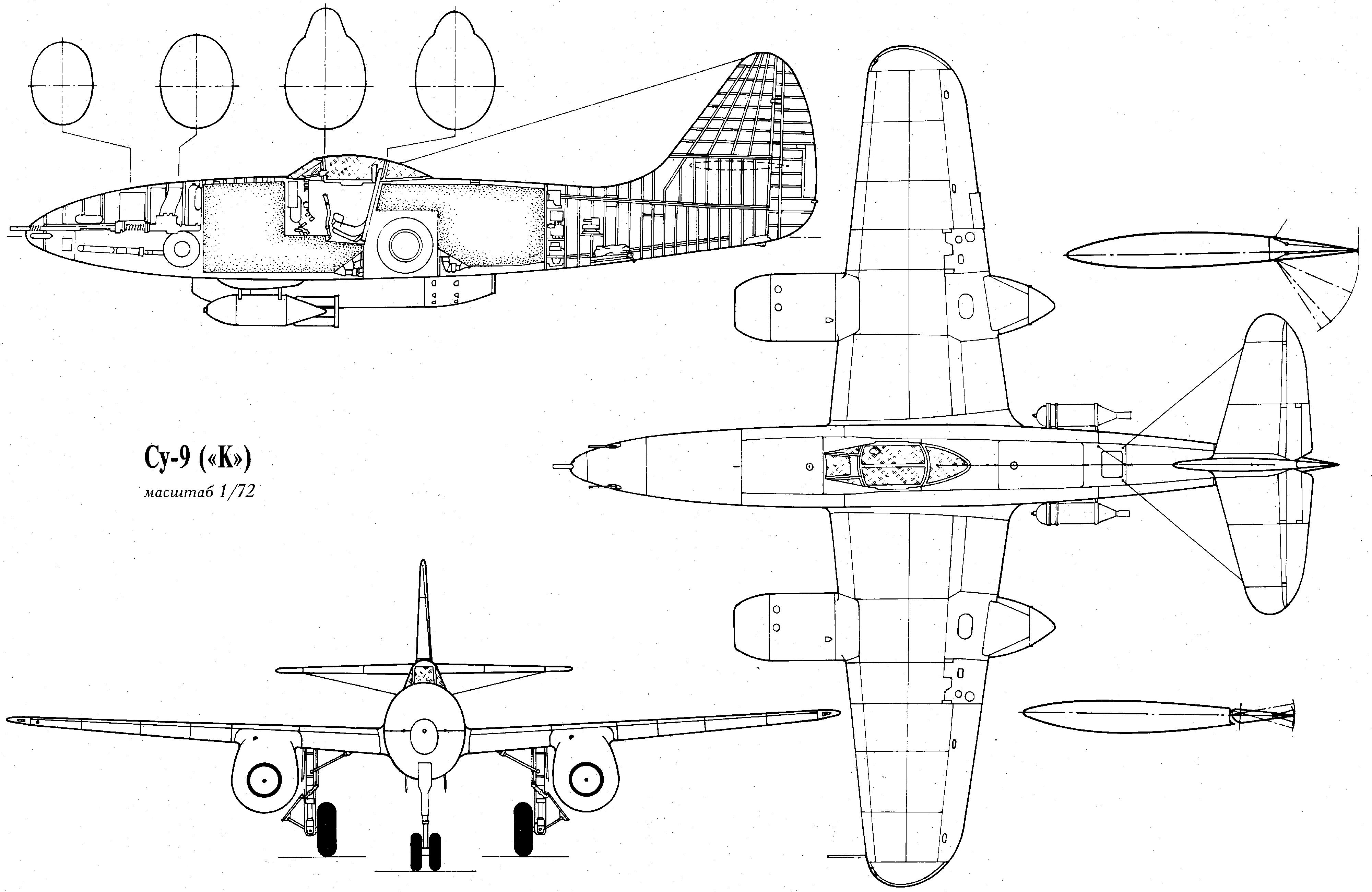 Su-9 blueprint