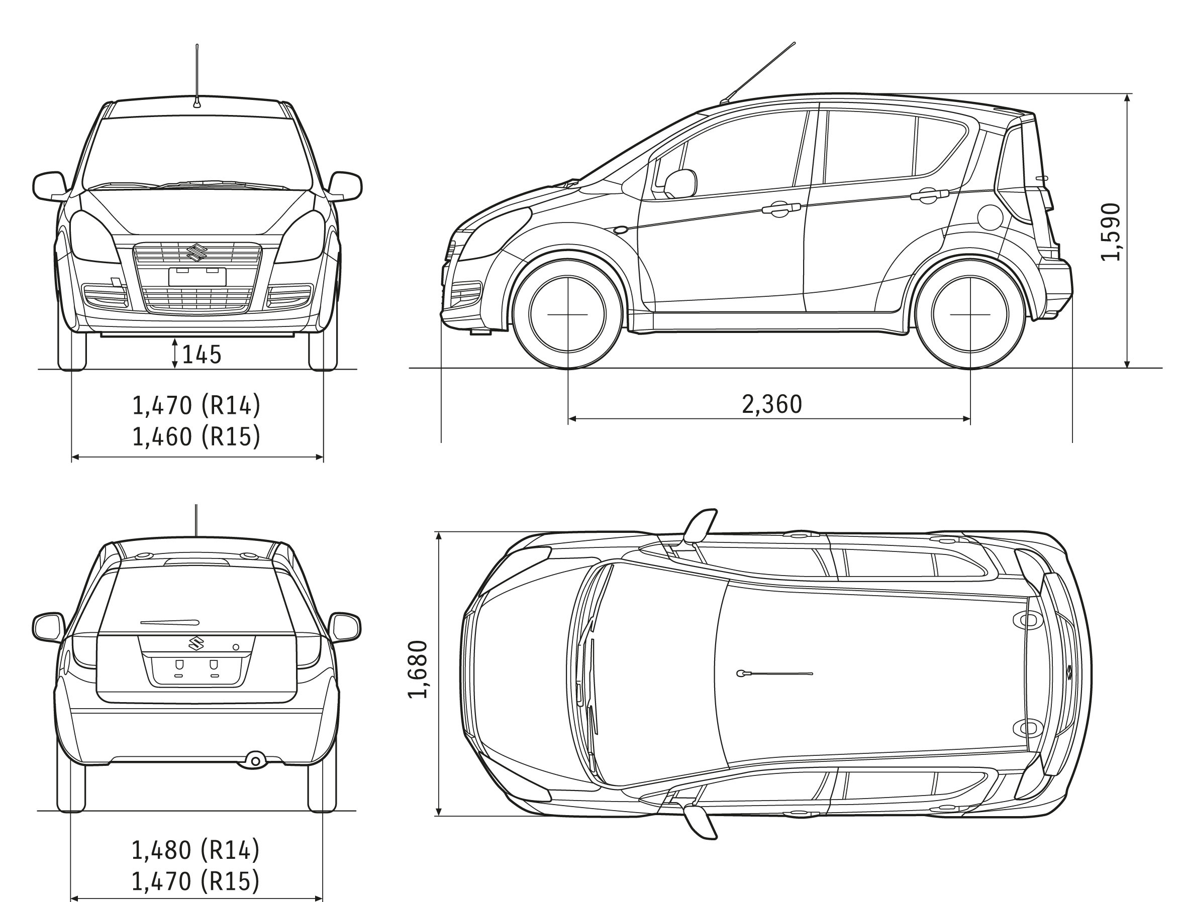 Suzuki Splash blueprint