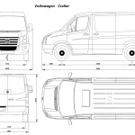 Volkswagen Crafter blueprint
