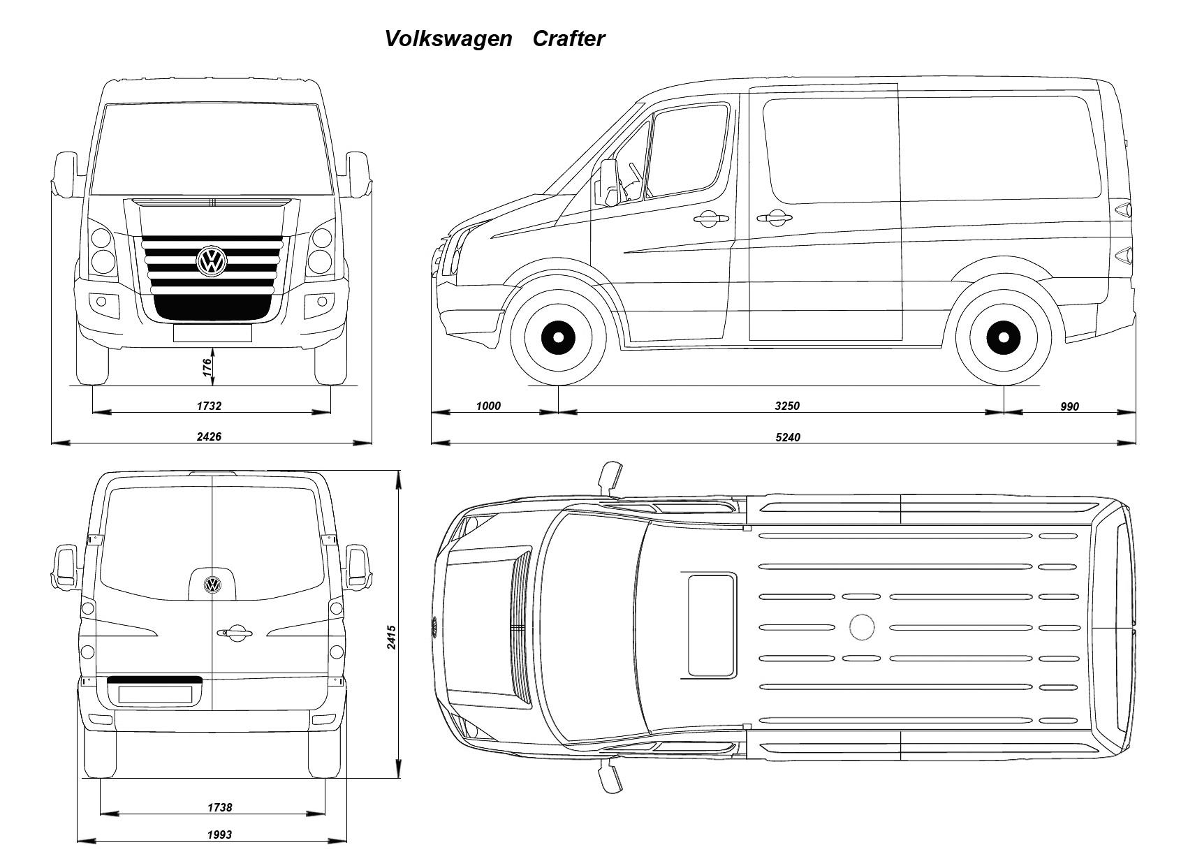Volkswagen Crafter blueprint