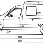 Citroen C15 blueprint