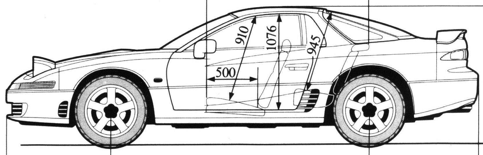 Mitsubishi GTO blueprint